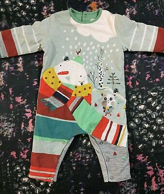 Catimini Baby Boys Lined Romper 6 Months