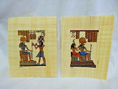 Pair of Handpainted Papyrus Time Life Lost Civilizations Subscriber Premium
