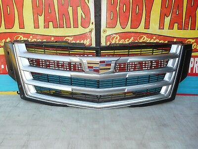 2015 2016 2017 CADILLAC ESCALADE FRONT GRILL W//CAMERA HOLE 17 16 15 OEM NEW
