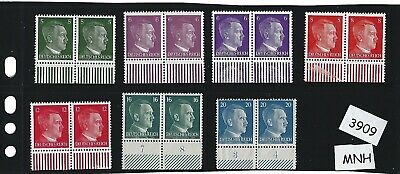 #3909      Small MNH stamp set / Adolph Hitler / Nazi Germany / 1941 Third Reich