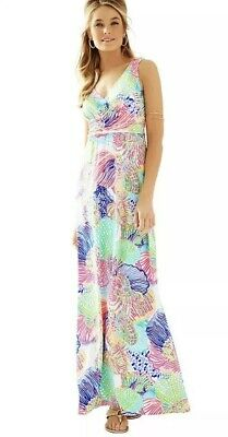 3dc0250f8aa4 Lilly Pulitzer Sloane Maxi Dress in Roar Of The Seas Multi Sz Medium M