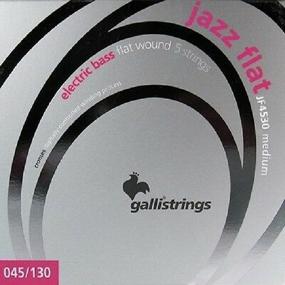 Galli JF4530 Jazz Flat Wound Bass Strings 45-130 5 CORDE BASSO ELETTR long scale