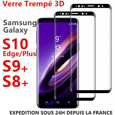 VITRE VERRE TREMPE SAMSUNG S8 S9 S10 Plus Edge FILM PROTECTION ECRAN 3D TOTAL