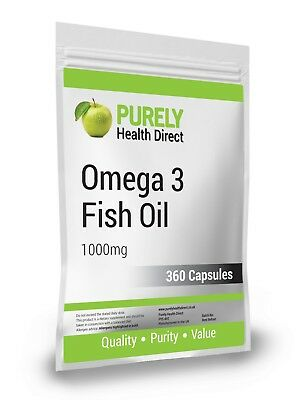 OMEGA 3 FISH OIL 1000mg  360 Capsules Packaged Compliance ISO 9001:2015