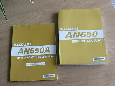 Original service manual Suzuki  AN650 model 2003 + Supplement