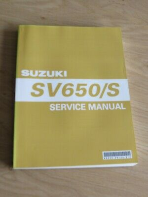 Original service manual Suzuki  SV650/S  model 2003