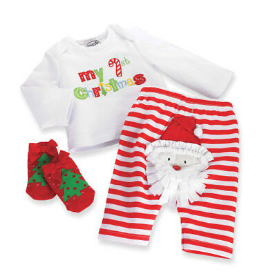 Mud Pie 'My 1st Christmas' Santa Outfit - Size 0-6 months