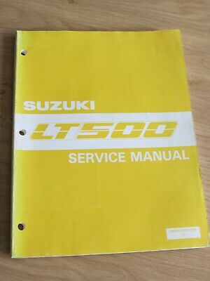 Original service manual Suzuki  LT500 model 1987