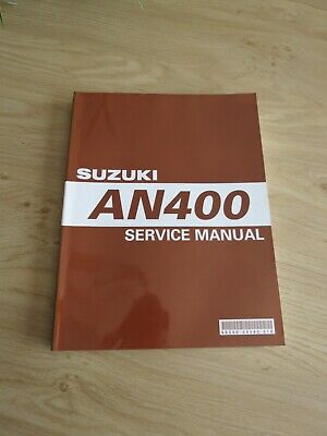 Original service manual Suzuki  AN400 K3 model 2003