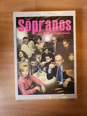 The Sopranos - The Complete Fourth Season (DVD, 2003, 4-Disc Set, Silver Foil E…
