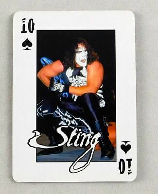 Sting WCW Pro Wrestling Playing Card 10 Spades Wrestler NWO WWE HOF