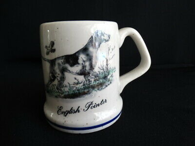 Vintage 1980's Enesco Speckled Stoneware English Pointer Coffee Mug