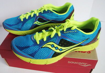 new concept 15fb4 9f22f SAUCONY FASTWITCH 6 Running Athletic Shoe Blue Yellow Black Men's New 11 D