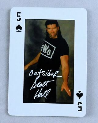 Scott Hall WCW Pro Wrestling Playing Card 5 Spades Wrestler NWO WWE Razor Ramon