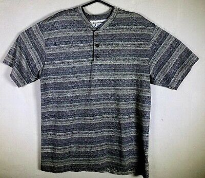 ed0f8b604 Vintage Z. Cavaricci Mens Medium Speckled Striped Spell Out T Shirt Made USA  EUC