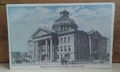 OLD POSTCARD, LEBANON, INDIANA, BOONE COUNTY COURT HOUSE