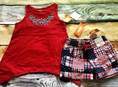 Gymboree 5 6 8 Set Star Spangled Days Ice Cream Cone Top Shorts Hair NWT Outlet