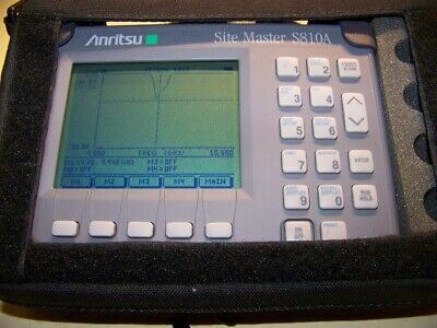 Anritsu S810A Site Master 3.3-10.5GHz with opt.5 W/new Battery & charger!