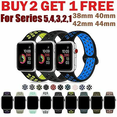 Replacement Silicone Sport Band for Nike+ Apple Watch Series 1 2 3 4 38,40,42,44