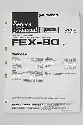 Pioneer FEX-90 Car Audio System Orig. Service Manual/Instructions/Wiring