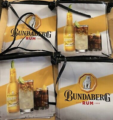 Bundaberg Rum Lazy Bear Bunting Collectable UNUSED BRAND NEW