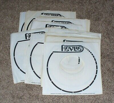 more photos 1b0f5 4b4cc Lot of 18 Revue FACTORY 45 RPM SLEEVES VG+ or Better