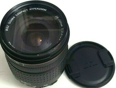 Sigma Compact Hyperzoom Camera Lens 28-200Mm 1:3.5-5.6 Macro Made In Japan Black