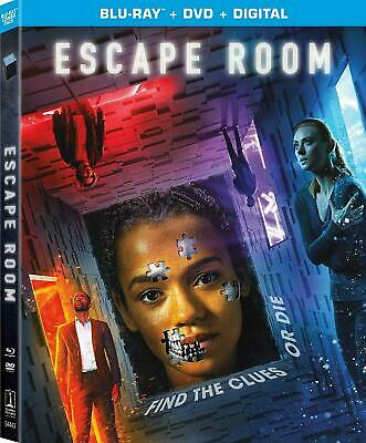 Escape Room (Bluray + DVD +Digital HD + SlipCover 2019) NEW SEALED FREE SHIPPING