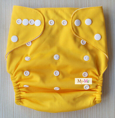 Baby One Size Plain Color Cloth Diaper Reusable Pocket Nappy Newborn Adjustable