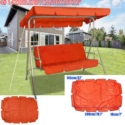 Garden Swing Chair Canopy Anti-UV Waterproof Patio Cover Replacement Outdoor
