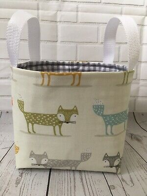Nursery Woodland Theme Foxes Basket - Many Other Items Listed
