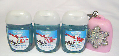 💚  Bath and Body Works I NEED A SNOW DAY 3-Pack PocketBac & Holder  💚