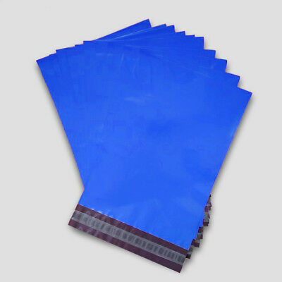 100 500 1000 Strong Bags Poly Mailing Postage Postal Quality Self Seal Blue
