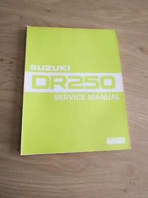 Original service manual Suzuki  DR250 1982