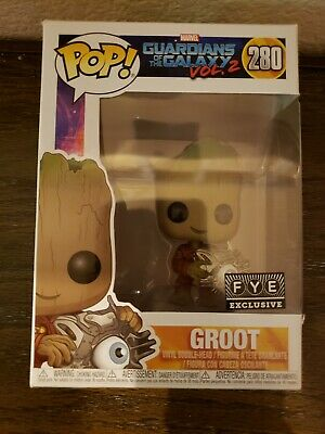 Funko Pop baby Groot with cyber eye guardians of the galaxy FYE exclusive