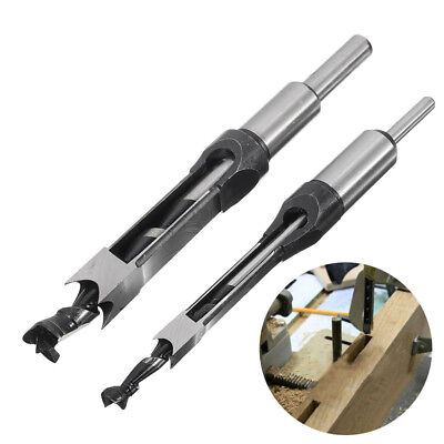 Drillpro 10mm/16mm Square Hole Saw Foret Perceuse Bit Mortaisage Chisel Auger