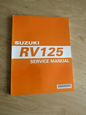 Original service manual Suzuki  RV125 K3  model 2003