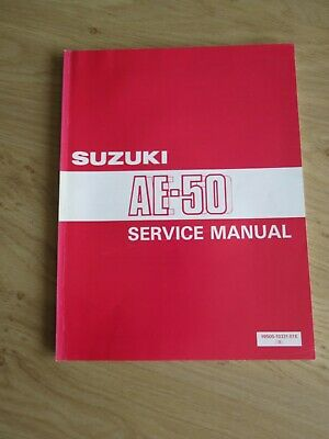 Original service manual Suzuki  AE-50  1990 - 1991