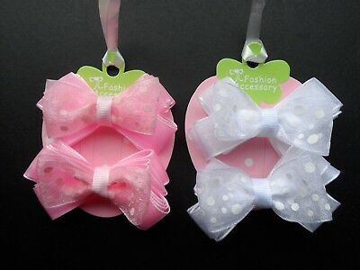 girls/baby hair bows head bows hair clip/puffy bows/crown small/med polka dot