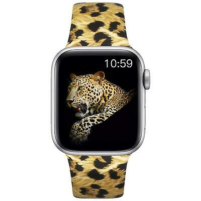 Silicone Watch Band Strap Leopard Print For iWatch Series1 2 3 4 40mm 44mm