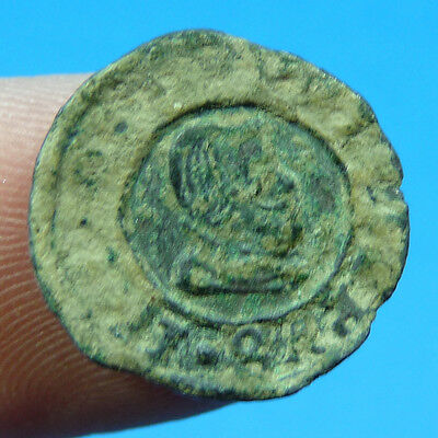 Uncleaned 1663 Pirate Cob Coin Felipe Iv Spain Colonial Treasure Time Philip Iv