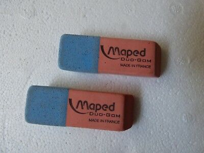 Lot de 2 GOMMES Crayon/Encre   MAPED