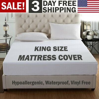 Mattress Cover Protector Waterproof Pad King Size Bed Cover Hypoallergenic Pad