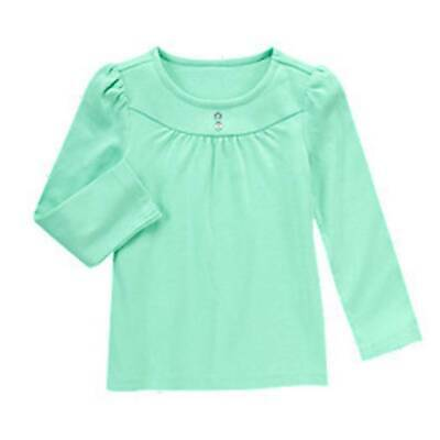 Gymboree WILD FOR HORSES sz 7 PEPPERMINT GREEN GEM BUTTON TEE TOP NWT