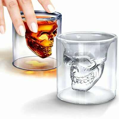 SkullHead Whiskey Transparent Glass Fun Creative Party Wine Beer Drinking Cup