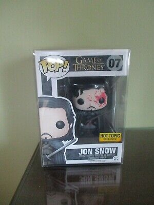 Funko Pop! Game of Thrones Bloody Jon Snow #07 Hot Topic With Protector