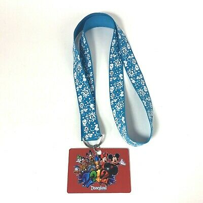 Disneyland Disney World 2012 Pin Trading Lanyard Blue Pre-owned