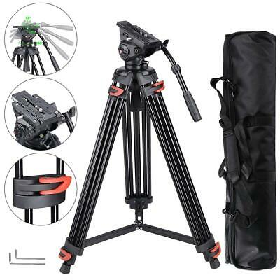 """AW 71"""" Professional Camera Tripod Portable DV Video Steady  Stand Fluid Damping"""