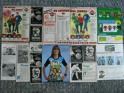 Football Lot Publicites 60 ' Raymond Kop Roger Marche Just Fontaine Maillot Vert