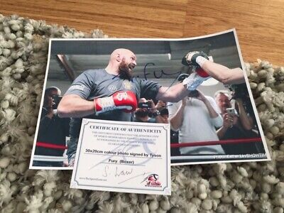 Tyson Fury Signed A4 Photo Boxer Champion Not Boxing Gloves